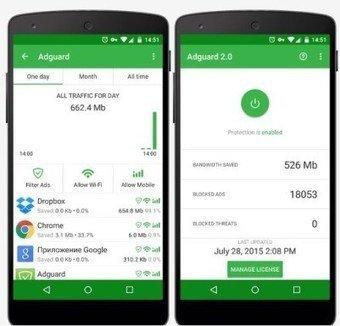 تطبيق مانع اعلانات Adguard Premium 3.4.74 Apk Full