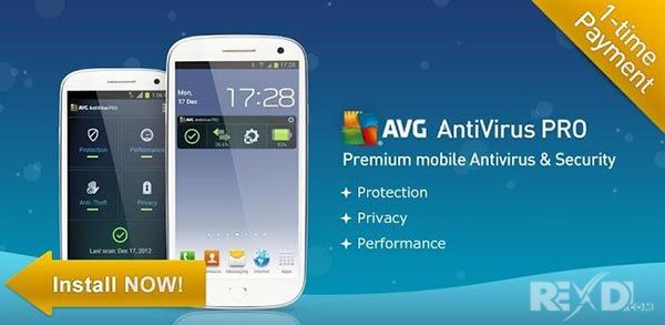 تحميل مضاد الفيروسات AVG كامل للاندرويد AVG AntiVirus PRO Android Security 6.27.2 Apk