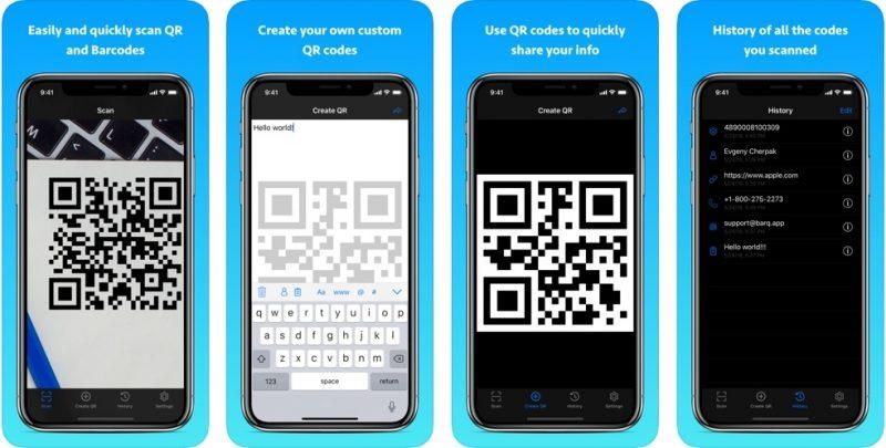 تطبيق QR code reader